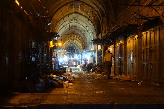 Jerusalem old city, quiet streets, Jerusalem, Night, closed shops