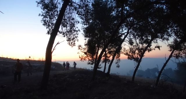 Khirbet al-Ra'i, sunrise, archaeological dig, ziklag