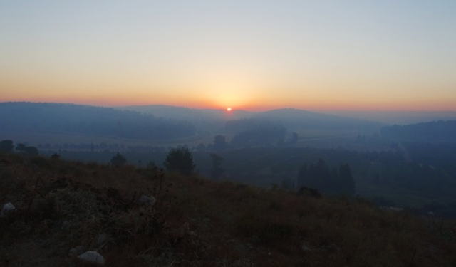 Lachish valley, israel, sunrise, khirbet al-Ra'i, ziklag