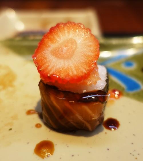 brazilian sushi, strawberry sushi, sweet sushi, sweet and savory