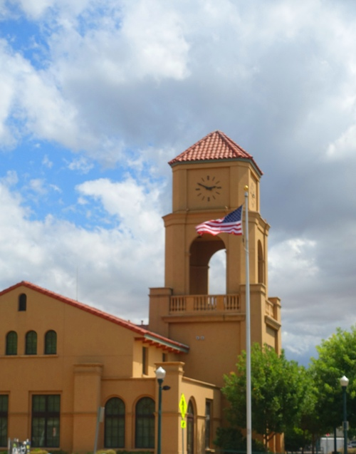 tracy transit center, cloudy sky