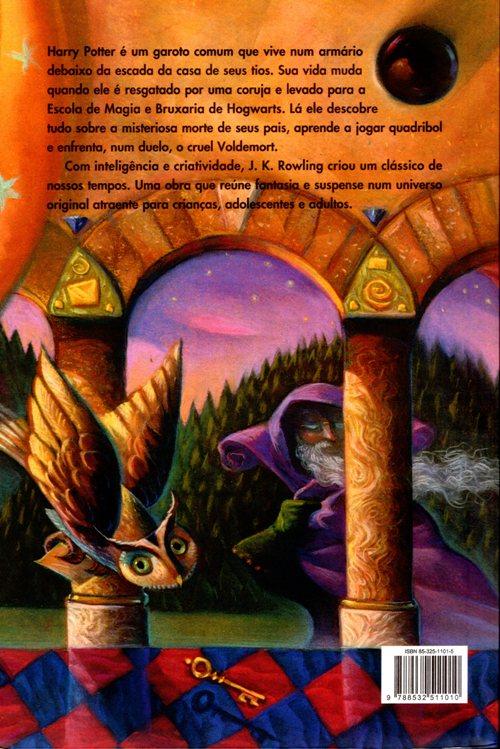 Harry Potter, Back Cover, Brazilian Portuguese, Translations, Pedra Filosofal