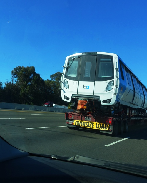 BART Train, Commute, Behind Train, Wide Load
