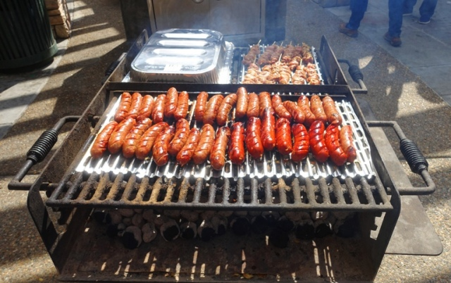 sausage on grill, picnic, Friday Lunch