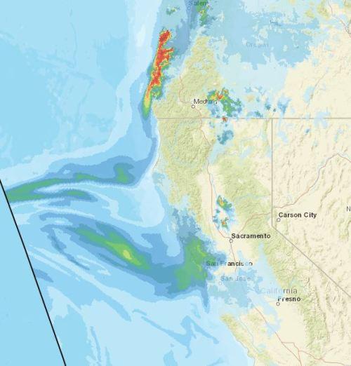 California Fires, Central Valley Smoke Forcast, California Smoke