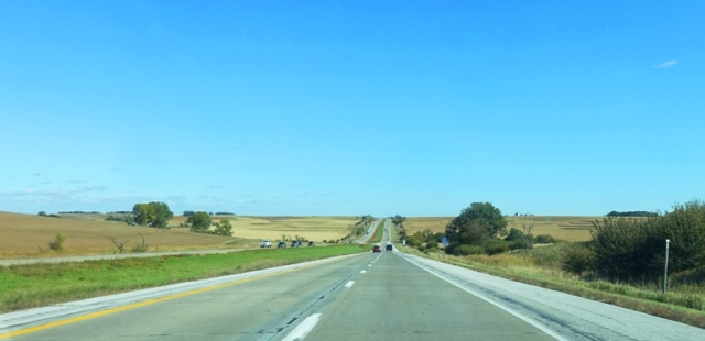 I-80, Iowa, Highway, hills, scenery