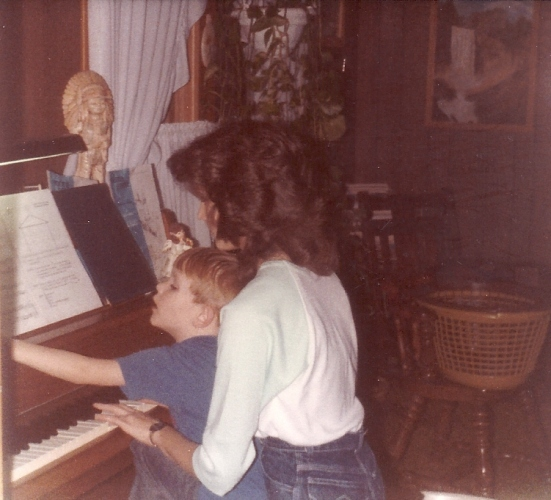 Piano memories, siblings playing, piano