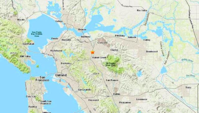 Pleasant Hill quake, California, earthquake