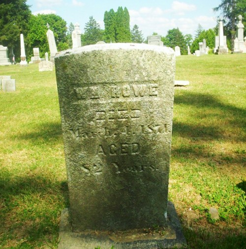 William Rowe, Hillsdale County Michigan, Cemetery, Rowe Family