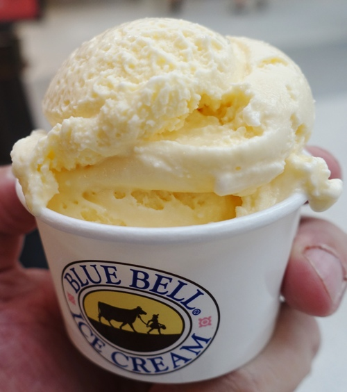 Blue Bell, Texas, Home Made Vanilla Ice cream, Houston Airport