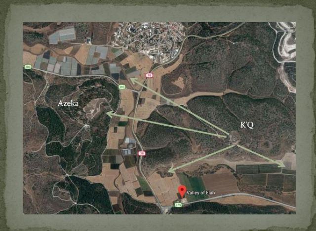 Khirbet Qeiyafa, Azeka, Elah Fortress, Elah Valley