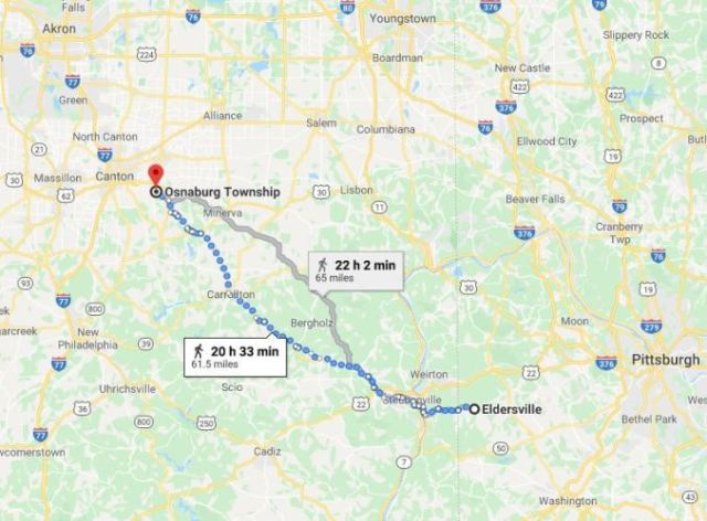 Eldersville Pennsylvania, Osnaburg Ohio, East Canton, Leepers