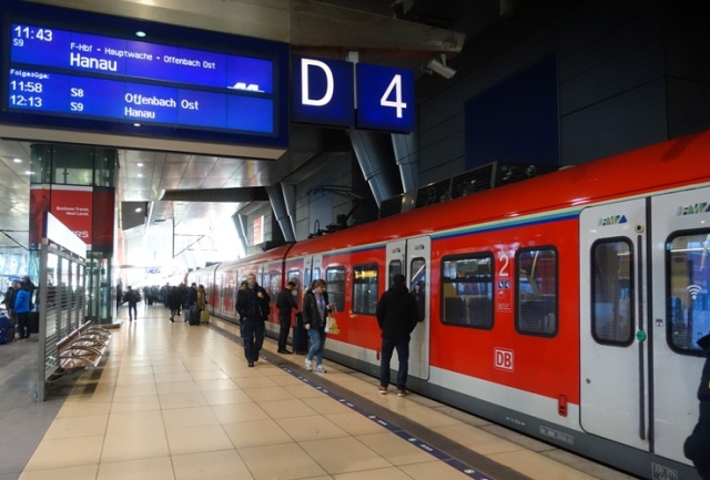 German Railway, Frankfurt Station, Trains