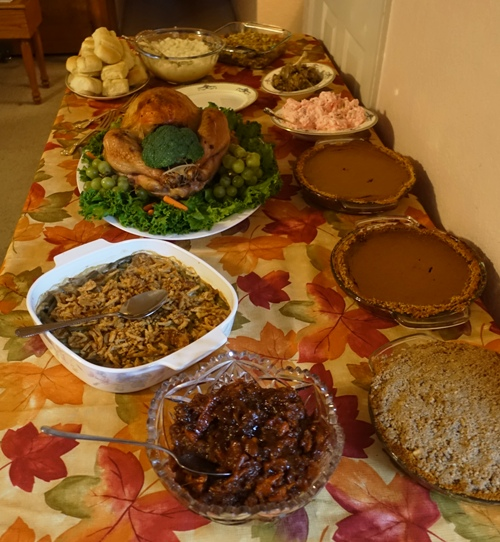 Thanksgiving food, feast