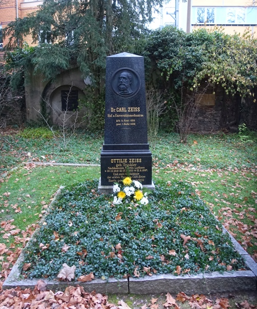 Carl Zeiss, gravestone, Jena, Germany