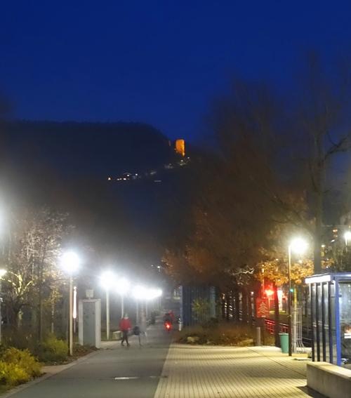 lobdeburg castle, Jena, Germany, Night View