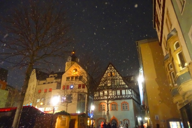 Christmas Market, Jena Germany, snow, Christmas Time