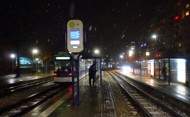 snow, lobeda, germany, street train, snowfall