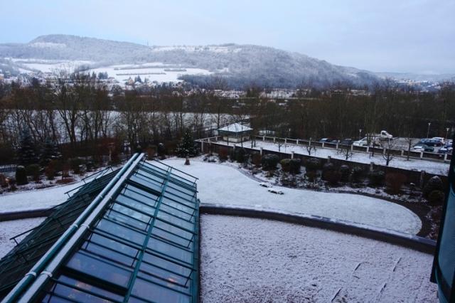 snow, jena, germany, walk to work, white views