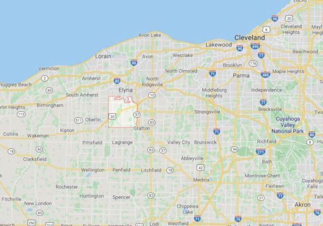 Carlisle township, Ohio, Lorain, maps