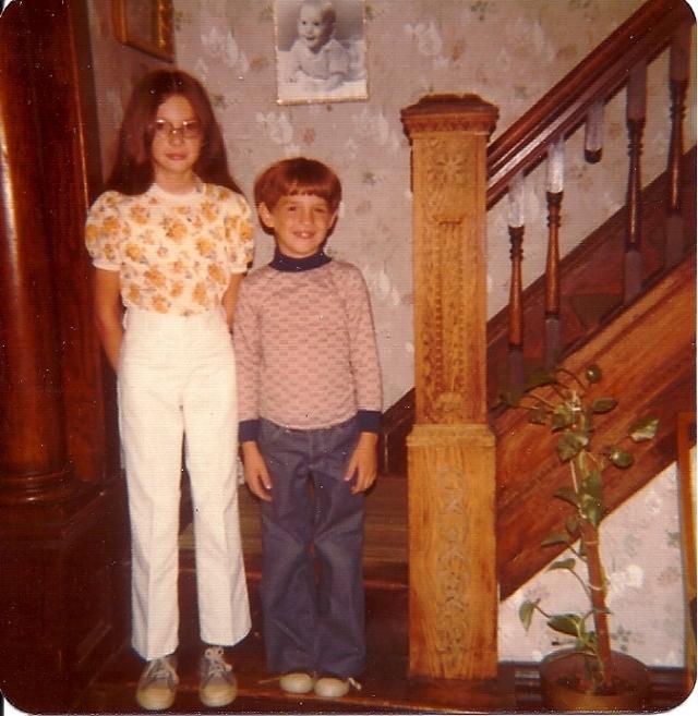hamilton street, stairs, siblings, big sis, two of me