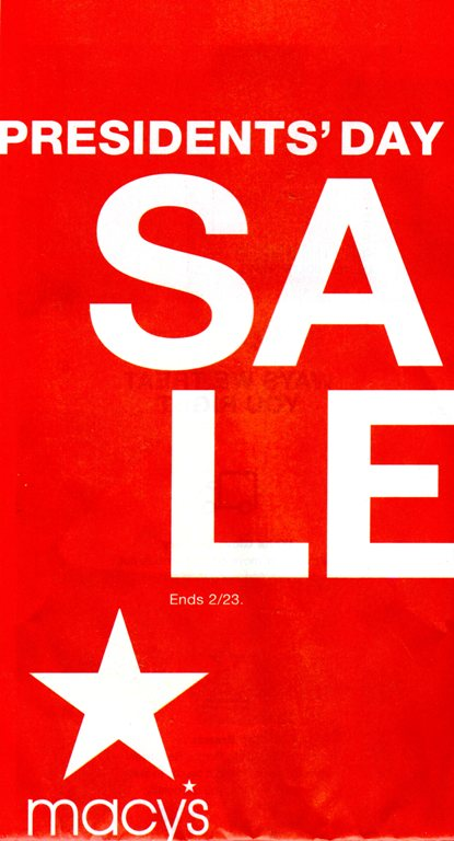 Macy's Presidents Day sale