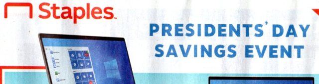 Presidents Day ads, Staples