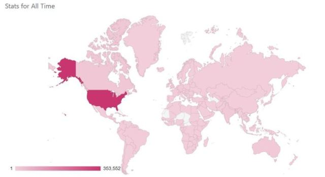 blog stats, country visits, geography