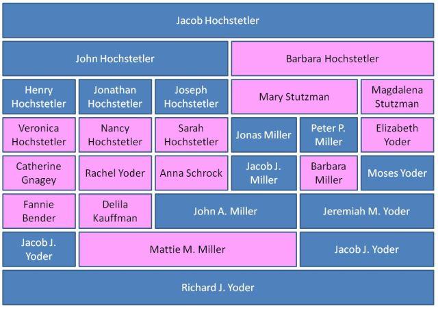 Geneaology, ancestry, hochstetler, multiple descent