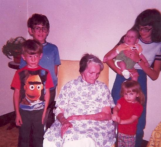 Great grandkids, grandma Van duzor, Family