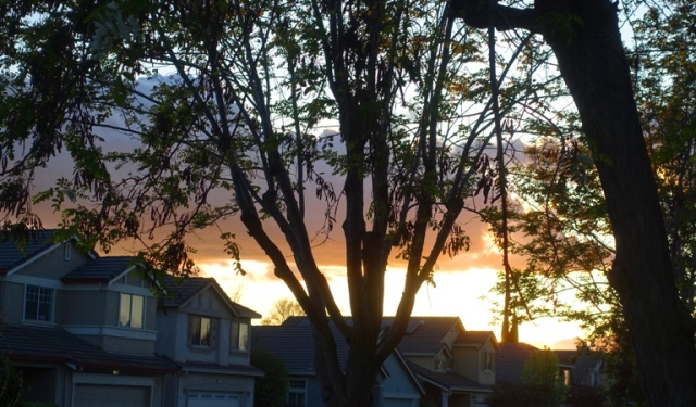 Evening Sky, California, cloudy sky, changing sky