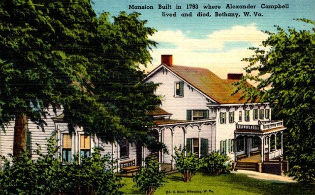 Campbell Mansion, Alexander Campbell, Bethany West Virginia, Restoration Movement
