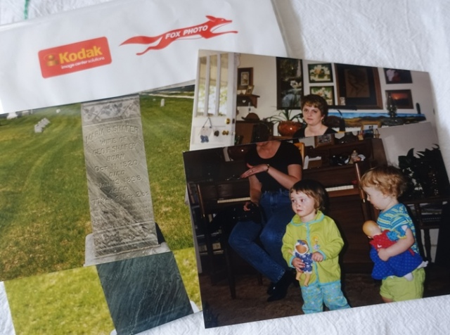 found pictures, gravestones, fox photo, photo development