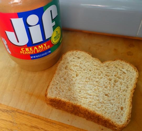 jif peanut butter, pbj, bread