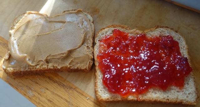 pbj, sandwich, peanut butter, jam, smuckers