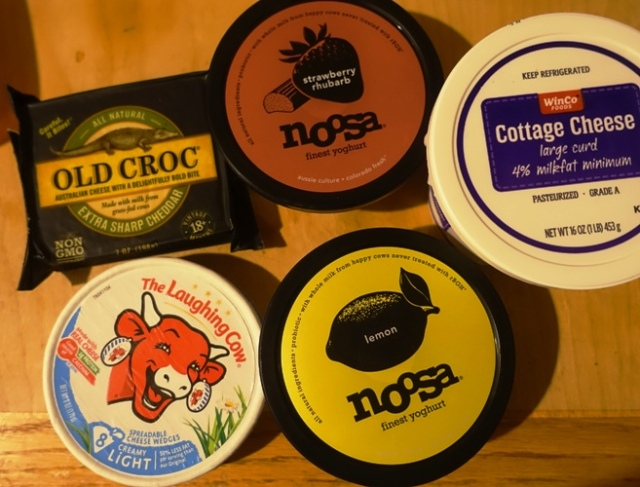 cheese, yoghurt, noosa, laughing cow, old croc, cottage cheese