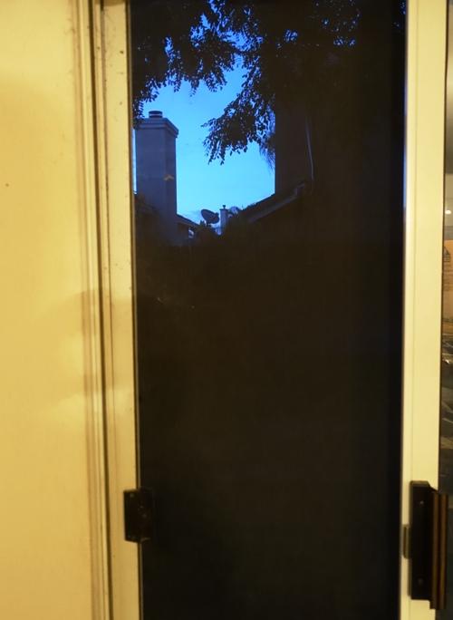 back door, backyard, screen door, sliding glasss door