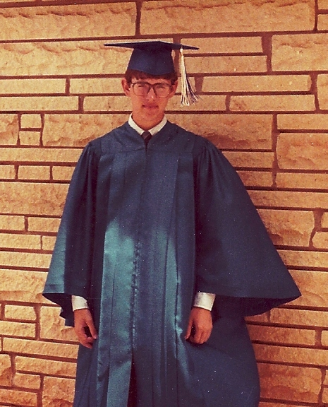 graduation party, cap and gown, church building