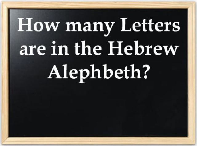 Hebrew, How many letters, Psalm 119, aleph, beth