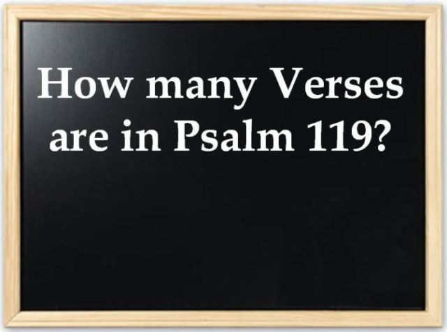 Psalm 119, number of verses, Math, acrostic poem