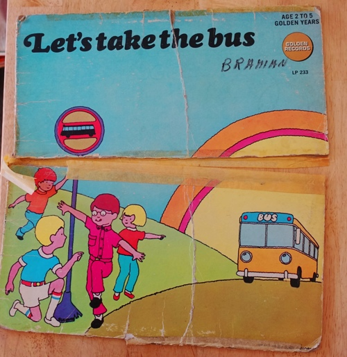 record, vinyl, record player, Let's Take the Bus, memories