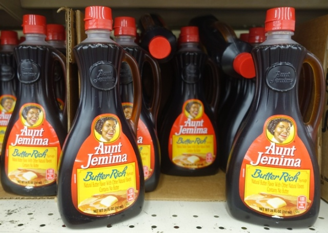 Aunt Jemima Syrup, food, grocery, bottles
