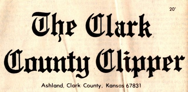 Clark County Clipper, Newspaper, ashland kansas