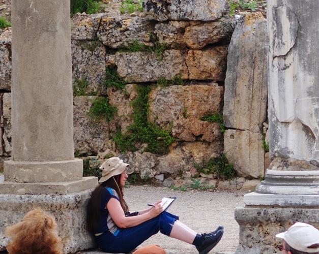 sketching, turkey, perge, archaeology