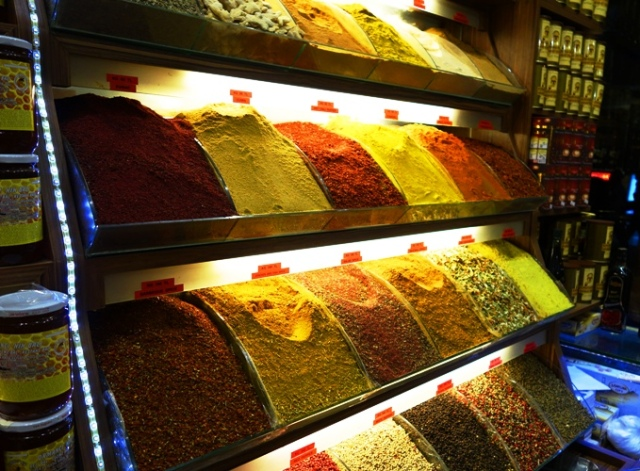 spices, turkey, shop display, food
