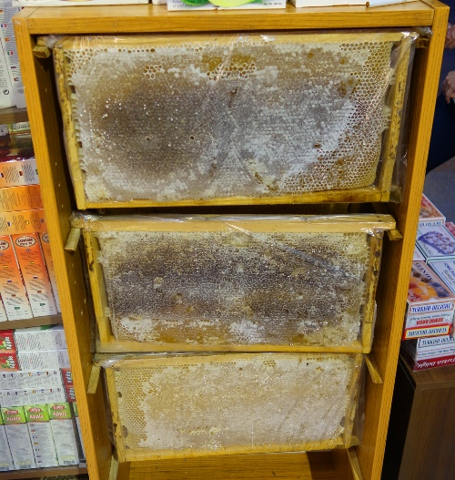 Honey comb, bees, honey frames