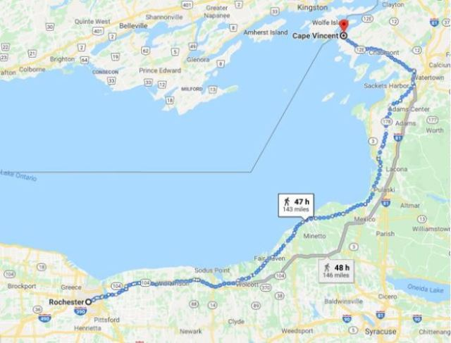 rochester, virtual hike, New York, Cape Vincent