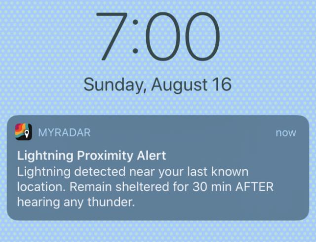lightning proximity alert SCU Complex fires