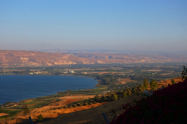 Sea of Galilee, Israel, sunset, lake