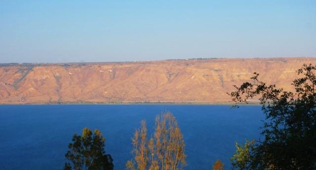 Sea of Galilee, Israel, sunset, lake